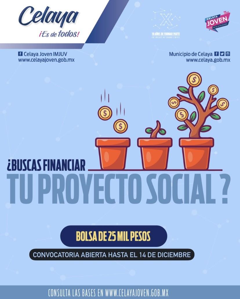 ¿ Quieres financiar tu proyecto social ?